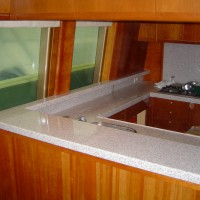 boat galley bench top