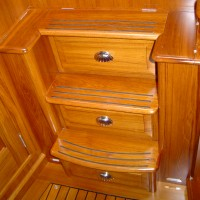 boat steps with storage