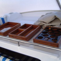 hand made wooden marine trays