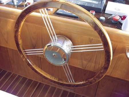 Marine Cabinetmakers steering wheel